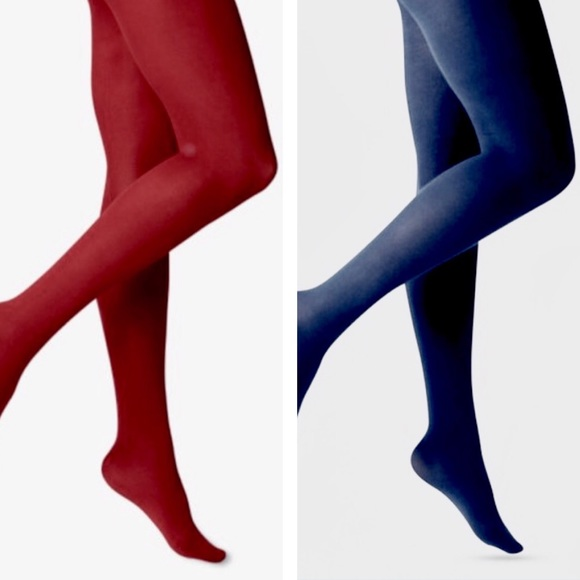 A NEW DAY 2 pairs opaque tights NWT sz S/M